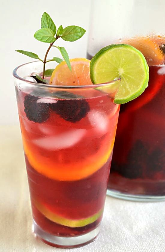 Lipton Tea and Honey Sangria Mocktail #FamilyTeaTime