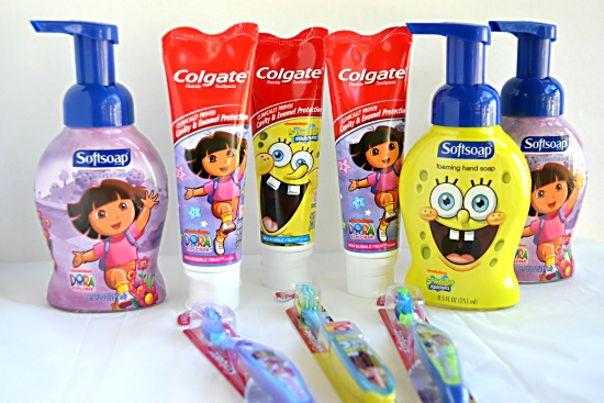 Colgate Dora and Spongebob tooth paste and tooth brush stocking stuffers