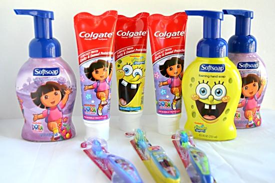 Colgate Dora and Spongebob tooth paste and tooth brush stocking stuffers
