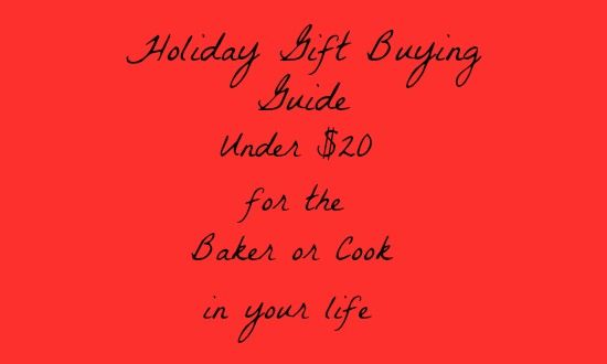 Holiday Gift Guide for the Baker or Cook