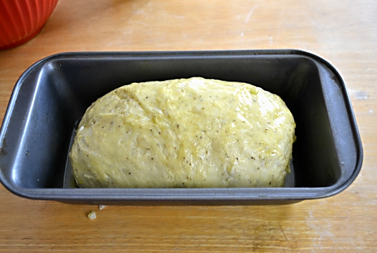 bread dough, forming a loaf of bread, rising homemade bread dough.