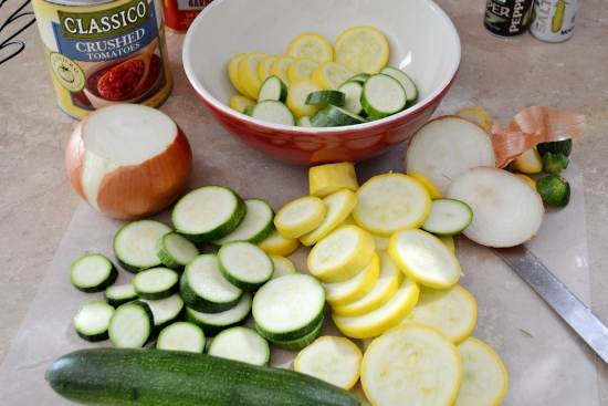 yellow squash, zucchini, classic tomatoes recipe
