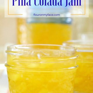Pina Colada Jam recipe made in the Ball automatic jam and jelly maker via flouronmyface.com #ad #canitforward