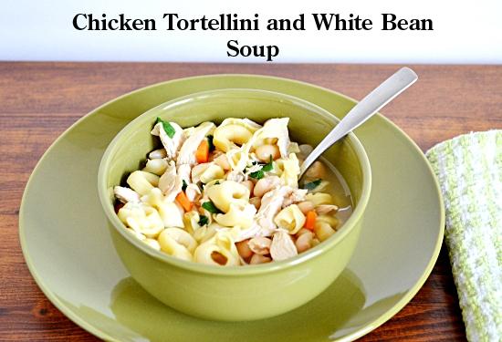 #SundaySupper, Tortellini, Soup, Chicken, White Bean, Recipe, Tortellini Soup Recipe