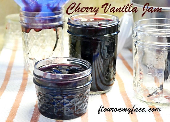 cherry jam, vanilla beans, canning recipes, jam recipes, cherries, Ball Jam and Jelly maker recipes,