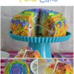 Rainbow Jello Poke Cake