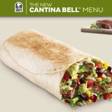 Taco Bell, Cantina Steak Burrito, Fast Food, Review