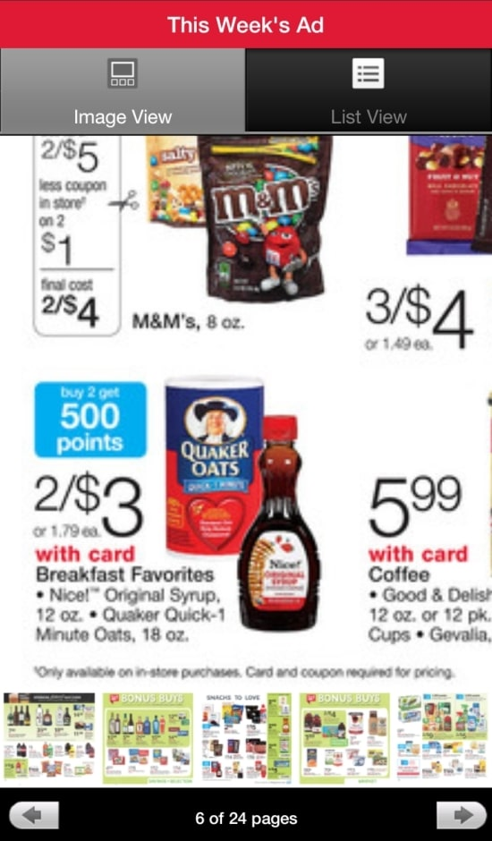 Walgreens Mobile App Sales Flyer