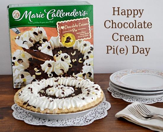Pie Day, Chocolate Cream Pie, Marie Callender's Pies