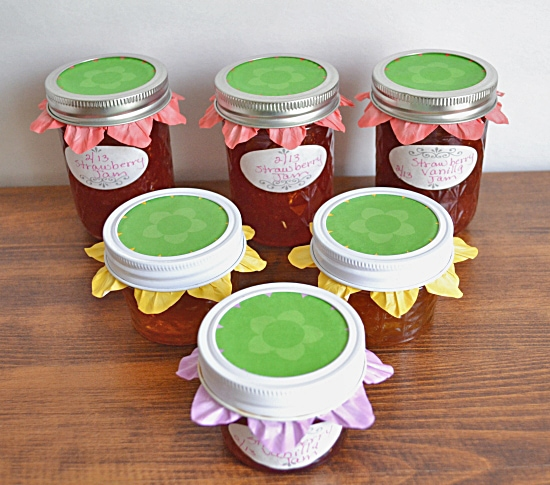 Mason Jars, Cupcake Liners, Canning lid toppers