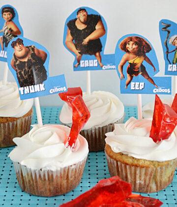 Cupcake decorating, The Croods Movie