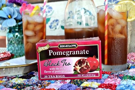 Bigelow, Pomegranate. Iced Tea