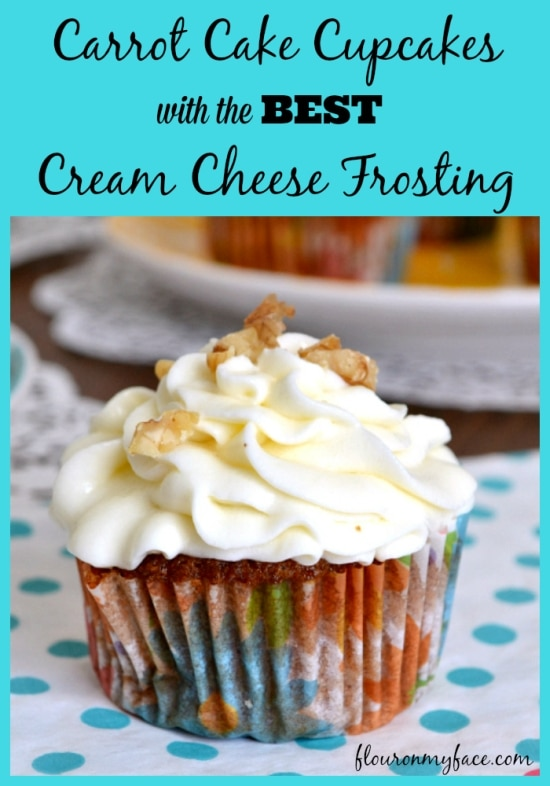 carrot cake cupcakes, cream cheese frosting, carrot cake recipe, cream cheese frosting recipe