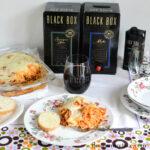 black box wine, spaghetti dinner, red wine,