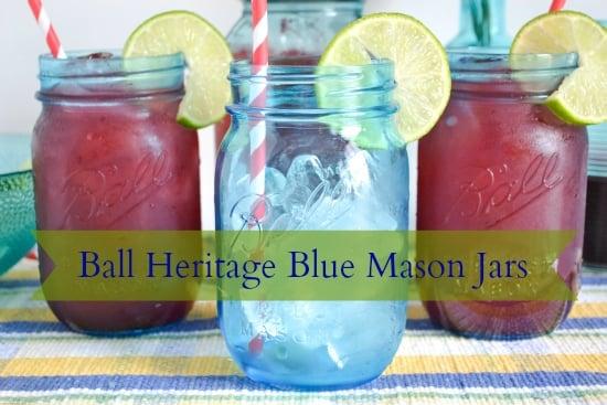 Cherry Limeade, Recipe, Ball Heritage Jars, True Blue Jars, Summer D