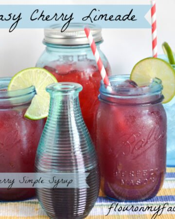 Homemade Cherry Limeade is a perfect Summer drink recipe to cool over when the heat starts to climb.