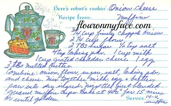 Onion Cheddar Muffin Recipe