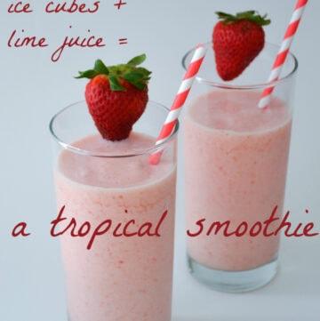 smoothie recipes, tropical smoothie recipe, dairy free smoothie recipe, coconut milk, smoothies