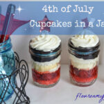 4th of July Berryilicious Cupcakes in a Jar via flouronmyface.com