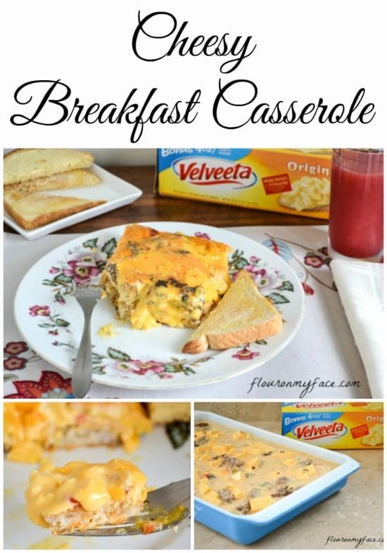 Cheesy Breakfast Casserole, velveeta breakfast casserole recipe