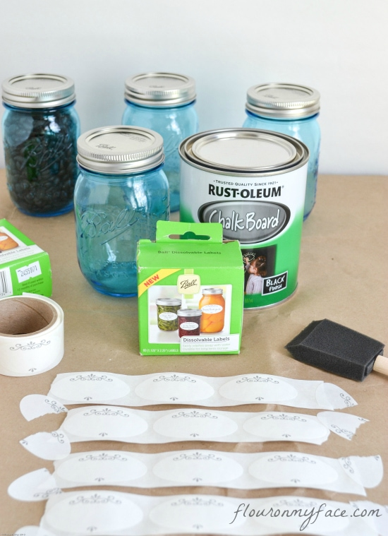 DIY, Chalkboard, Chalk, Labels, Mason Jar Labels