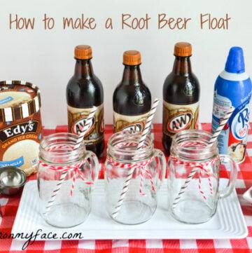 A&W Root Beer Float, Ice Cream Float, Edys, Ice Cream, Root Beer
