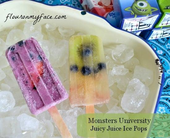 Juicy Juice, Ice Pops, Monsters University Ice Pops