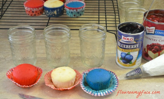 All You, Cupcakes, 4th of July desserts, desserts in a jar