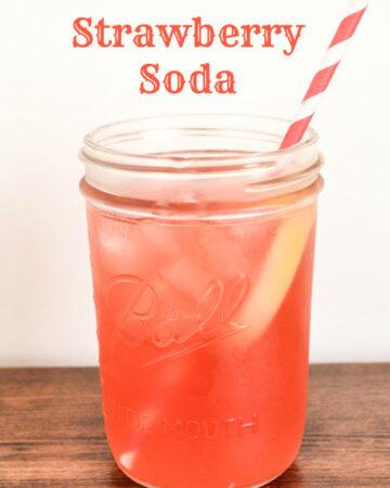 soda recipes, soda making, homemade soda, strawberry soda recipe