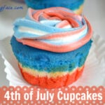 4th, July, Cupcakes, red,white,blue, 4th of July Recipes