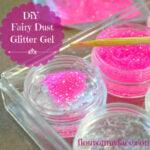 DIY Fairy Dust Glitter Gel recipe to make the fairies sparkle during a Fairy Birthday Party or Fairy themed tea party via flouronmyface.com