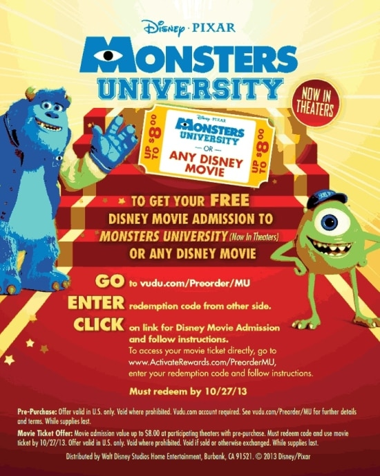 Monsters University, DVD, preorder, Walmart