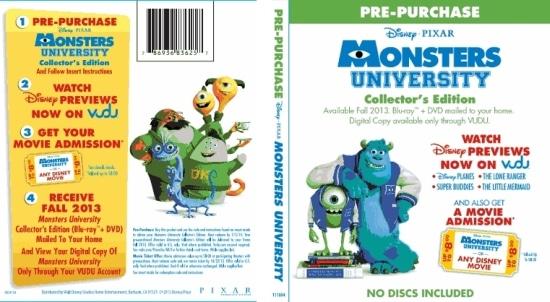 Disney, Movies, Monster University, PreOrder