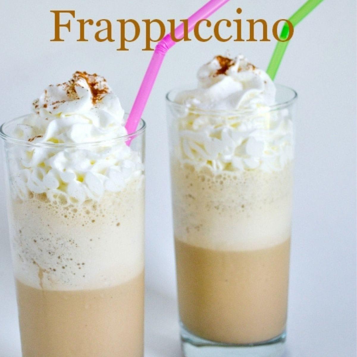 Two Chai Tea Frappuccino's in tall glasses.