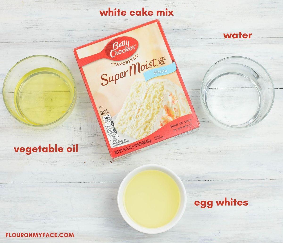 Fourth of July Cupcake ingredients.
