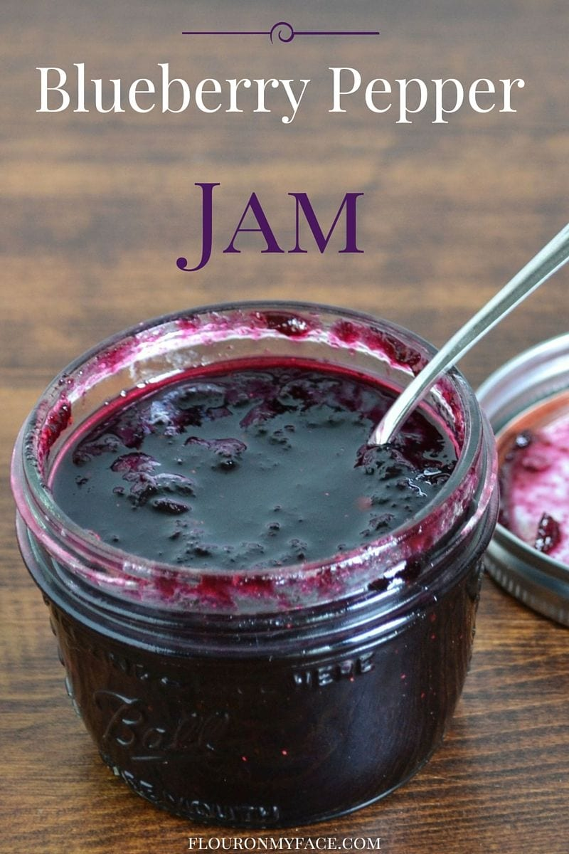Blueberry Pepper Jam recipe via flouronmyface.com