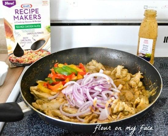 kraft, recipe maker, chicken fajita, easy meals, quick family meals