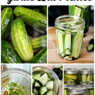 How to make easy Refrigerator Garlic Dill Pickles via flouronmyface.com