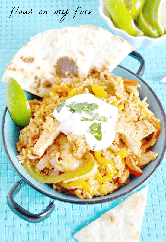 Tex Mex Chicken Fajita recipe via flouronmyface.com