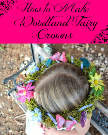 How to make woodland fairy crowns, fairies, fairy costume, fairy party, fairy party favors, DIY Fairy Party