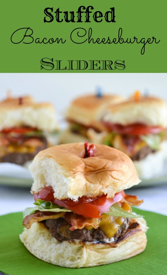 Stuffed Bacon Cheeseburger Sliders #KHHolidayRollCall
