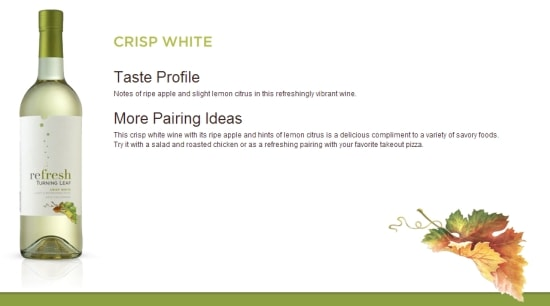 turning leaf wines, white moscato wines, wine review