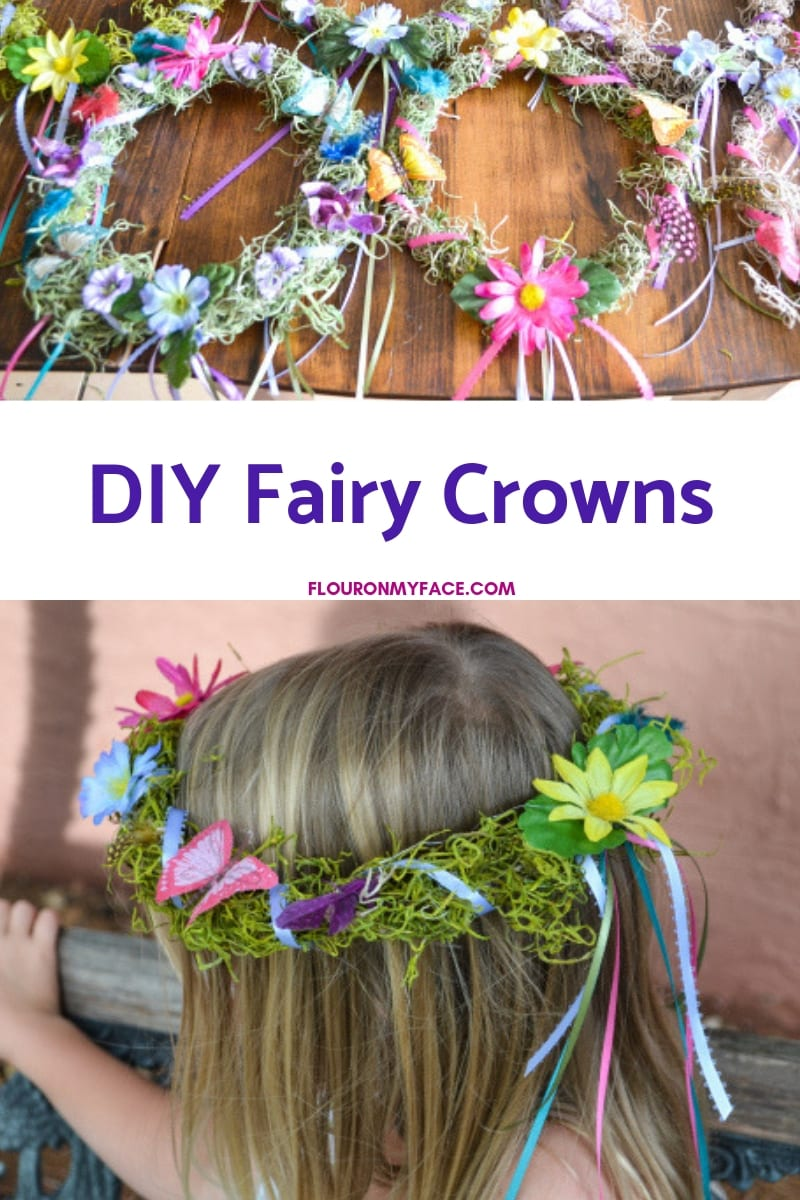 Image of a DIY Fairy Crown on a little girls head
