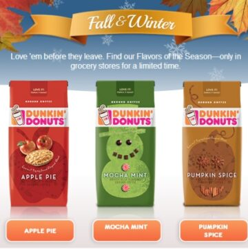 Dunkin Donuts Coffee, Seasonal Flavors,