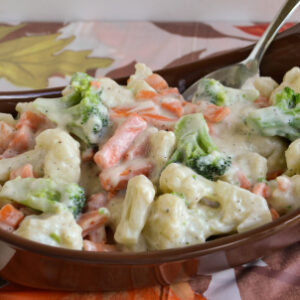 Vegetable Medley with a homemade cream sauce