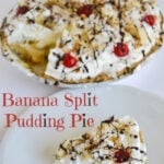 No-Bake Banana Split Pudding Pie