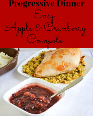 Apple & Cranberry Compote Recipe via flouronmyface.com
