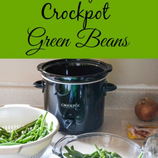 easy crock pot green beans, fresh green beans, progressive dinner recipe