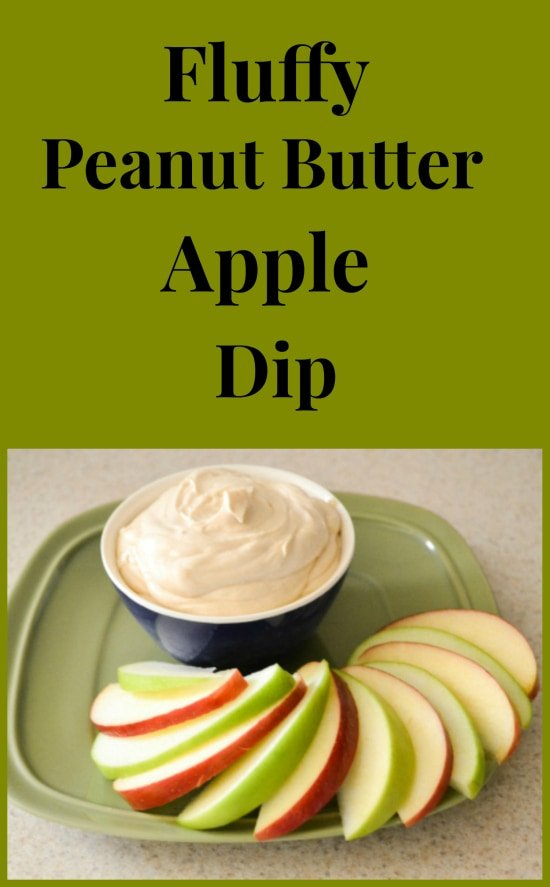 Fluffy Peanut Butter Apple Dip