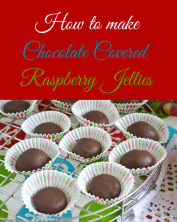 homemade raspberry jellies, hometown christmas, homemade holidays, homemade candy, raspberry jellies, chocolate covered raspberry jelly candy
